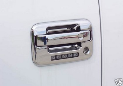 2004-2013 Ford F150 Coast to Coast Door Handle Covers with Passenger Side Key Hole and with Key Pad - Chrome (2-Piece)