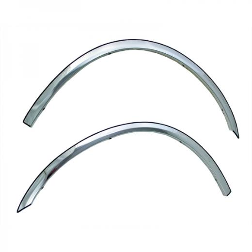 2006-2010 Dodge Charger Coast to Coast Short Fender Trim - Polished Stainless Steel (4-Piece)