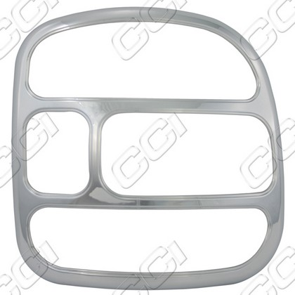 1999-2006 Chevrolet Silverado Stepside Coast to Coast Tail Light Bezels - Chrome (2 Piece)