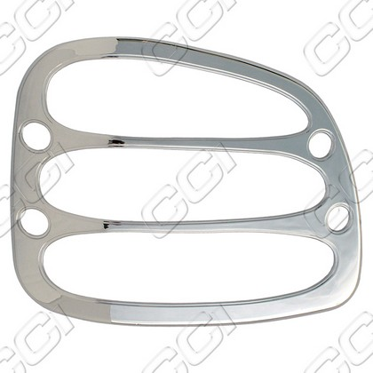 1997-2003 Ford F150 Flareside Coast to Coast Tail Light Bezels - Chrome (2 Piece)