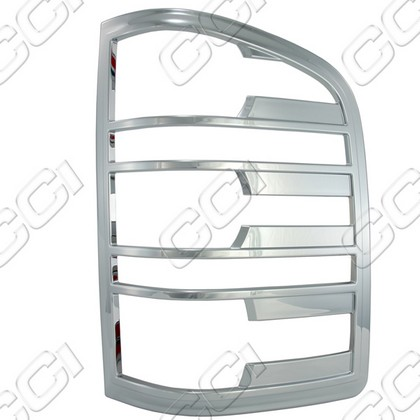 2007-2013 Chevrolet Silverado, 2500 Coast to Coast Tail Light Bezels - Chrome (2 Piece)