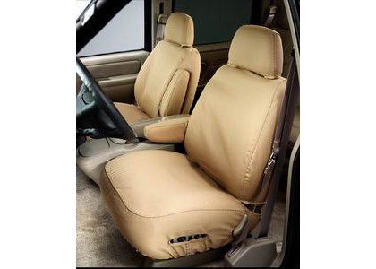 05 Ford Freestyle - Bucket Seats With Adjustable Headrest Covercraft Seat Saver Polycotton (Taupe)