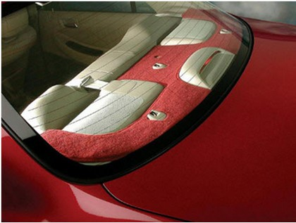 00-05 Accent :SEDAN, W/ SPKR CUTOUT Coverking Custom Tailored Rear Deck Covers Polycarpet Dark Blue