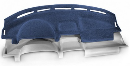 06-10 Mountaineer Coverking Custom Molded Carpet Dashboard Covers - Dark Blue