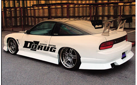 89-94 Nissan 240SX D-Drug Aero Body Kit - Side Skirts