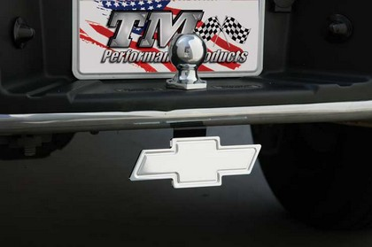 Chevy Truck DefenderWorx Cutout Bowtie Billet Bumper Mount (Black)