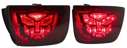 10-11 Chevy Camaro DefenderWorx Transformers Autobot LED Taillights - Red Lens
