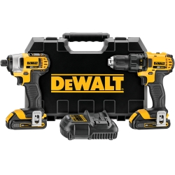 Universal (All Vehicles) Dewalt Tools 20V MAX Lithium Ion Compact Drill and Driver Combo Kit