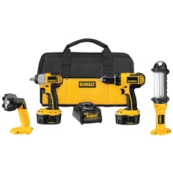 Universal (All Vehicles) Dewalt Tools 14.4 Volt Compact 4 Piece Automotive Tool Combo Kit