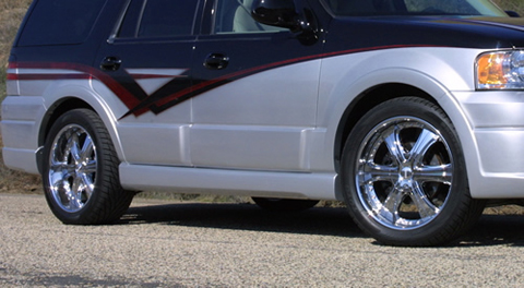 2003-2006 Ford Expedition DG Motorsports Hurricane II Body Kit - Side Skirts