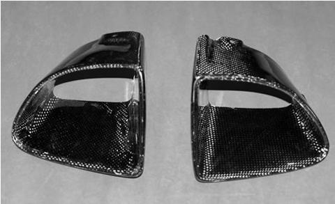 DG Motorsports Body Kit - Carbon Fiber Front Bumper Ducts