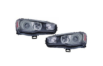 08-11 Mitsubishi Lancer  D-Lab Performance Projector Euro Style Headlights (Black Bezel, without Hid Type)