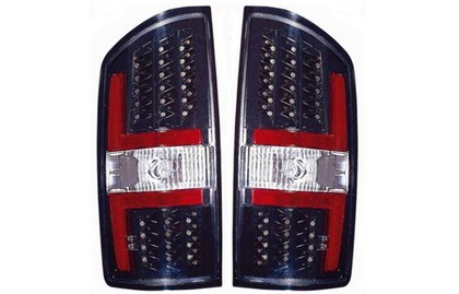07-08 Dodge Ram Pickup  Dlab Tail Lights (W/ Led, Black) - P (Pair)