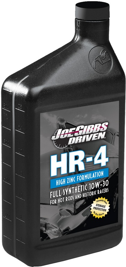 Recommended Use: Hot Rods and Historic Racers Driven Racing Oil? HR-4 High Zinc Synthetic 10w-30 Case of 12 Quarts