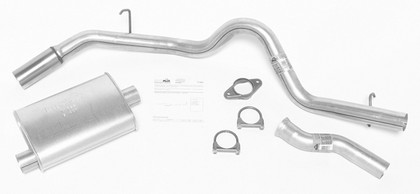92-94 Bravada DynoMax Exhaust System with Super Turbo Muffler - Passenger Side Single Rear Exhaust (Street Plus Sound)