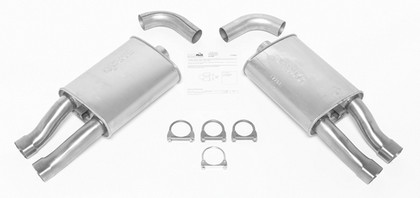 DynoMax Exhaust System with 2 Super Turbo Mufflers - Dual Rear Side Exhaust (Sport Sound)