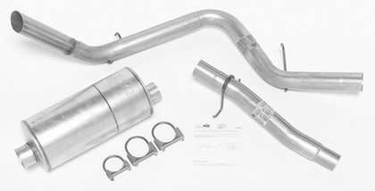 00-03 Dakota DynoMax Exhaust System with Super Turbo Muffler - Passenger Side Single Rear Exhaust (Sport Sound)
