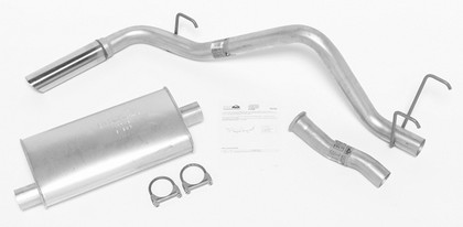 00-01 Envoy DynoMax Exhaust System with Super Turbo Muffler - Passenger Side Single Rear Exhaust (Street Plus Sound)
