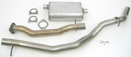 00-03 S10 Sonoma DynoMax Exhaust System with Ultra Flo Polished Muffler - Passenger Side Single Rear Exhaust (Sport Sound)