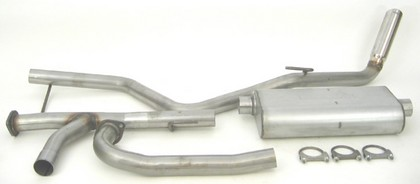 05-10 Frontier DynoMax Exhaust System with Ultra Flo Polished Muffler - Passenger Side Single Rear Exhaust (Sport Sound)