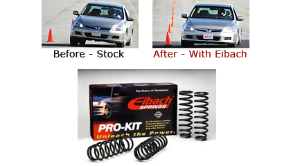 Hyundai 03-up Tiburon Eibach Lowering Springs - Lowers Front:1.1 inch/ Rear:1.1 inch