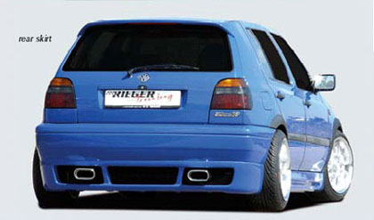 93-98 VW Golf GTI MKIII Eurogear Rieger Body Kit - Rear Skirt