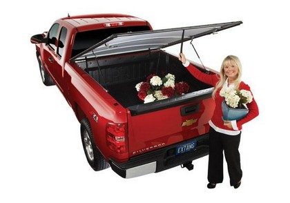 99-11 Ford Super Duty Long Bed (8 ft)  Extang Full Tilt Soft Hinged Tonneau Cover (With Snaps)