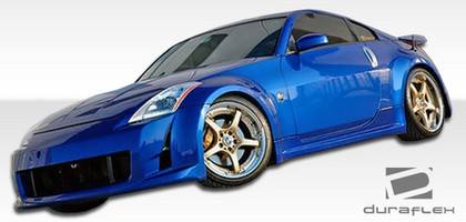 2003-2008 Nissan 350z Extreme Dimensions AMS Body Kit - Side Skirts
