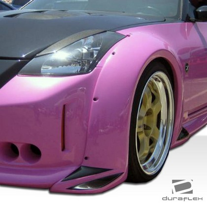 2003-2008 Nissan 350z Extreme Dimensions Vader 3 Wide Body Kit - Fenders (Front)