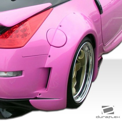 2003-2008 Nissan 350z Extreme Dimensions Vader 3 Wide Body Kit - Fender Flares (Rear)