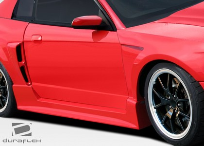 1999-2004 Ford Mustang Extreme Dimensions CBR500 Wide Body Side Skirts