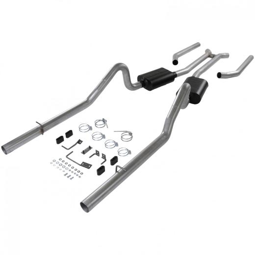 68-70 Belvedere Flowmaster Delta Force Header-Back Exhaust System - Dual Rear Exit with Super 40 Series Mufflers