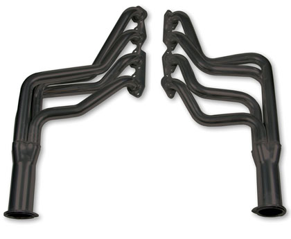 "73-74 Malibu Base,  Classic, Estate V8 7.4 Flowtech Headers - Standard, Primary Tube Collector Size 1.75"" x 3"" w/o A.I.R. Tubes, Modify Stock Exhaust to Retain Cat. Converter, Not Legal for Street Use"