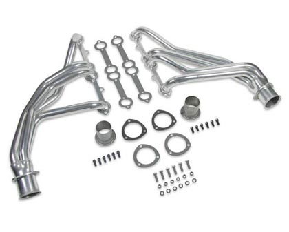 "73-74 C25/C2500 Suburban V8 5.0/5.7 Flowtech Headers - Primary Tube Collector Size 1.5x3"" w/o A.I.R. Tubes, May Require Clutch Linkage Modification, Modify Stock Exhaust to Retain Cat. Converter, Not Legal for Street Use (Ceramic)"