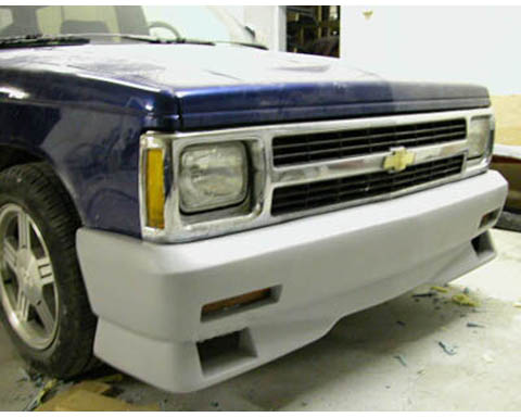 82-93 Chevrolet S10 FX Designs Typhoon Syclone Style Body Kit - Front Bumper Cover