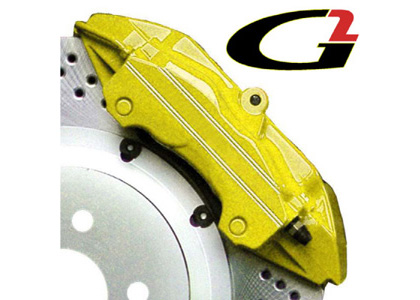 1965-1972 Mercedes 250 G2 Caliper Paint - High Temperature Brake Caliper Paint System Set (Yellow)