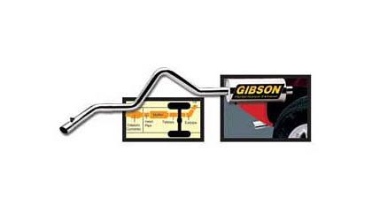 2001-2006 Mitsubishi Montero Gibson Exhaust Systems - Swept Side Style (Aluminized)