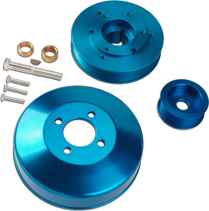 00.5-04 Mustang GT Granatelli Motorsports Pulley Kits - Under Drive Pulley Set