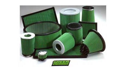 03-04 Nissan 350Z 3.5L V6 Green Air Filters