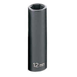 "2000-2003 Toyota Tundra Grey Pneumatic 3/8"" Drive Deep Metric Impact Socket - 12mm"