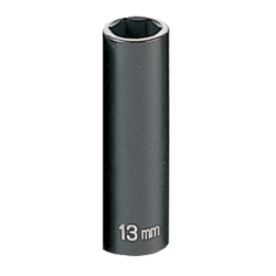 "2000-2003 Toyota Tundra Grey Pneumatic 3/8"" Drive Deep Metric Impact Socket - 13mm"