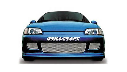 Civic 2/3DR Grillcraft Cut-Out Grilles - Lower (Black)