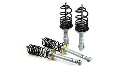 97-01 Hyundai Tiburon H&R Lowering Springs - Cup Kit Suspension (Lowers Front:2.0 inch/ Rear:1.7)