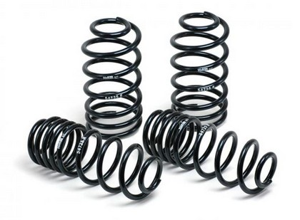 "2005-2010 Audi A3 Type 8P, 2WD, 4CYL, TDI H&R Sport Springs - Lowers Front: 1.3"", Rear: 1.3"""