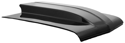 "66-67 Chevrolet Nova Harwood Fiberglass Hood - 4"" Cowl, Bolt-On, Show Series hood features a fully finished underside."