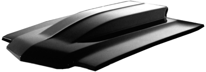 "70-72 Chevrolet Malibu Harwood Fiberglass Hood - 4"" Cowl, Bolt-On, Show Series hood features a fully finished underside."