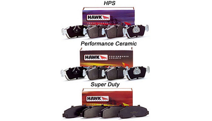 FRONT BRAKE PADS FOR:;;? 2002-2006 Nissan Sentra SE-R Hawk High Performance Street Brake Pads