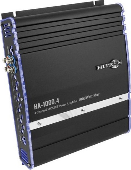 2008-9999 Pontiac G8 Hitron 1000W Max, 2-Channel Amplifier With Bass Remote (Black)