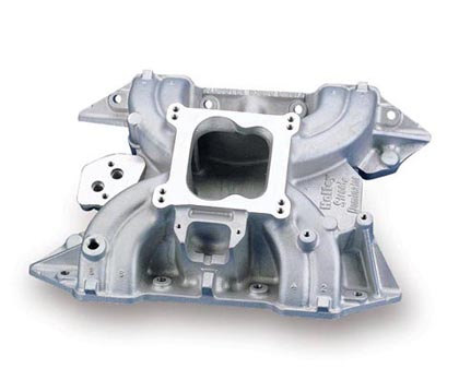 "78 D450 Pickup V8 7.2 Holley Intake Manifold - Single Plane Design, Idle - 6000 RPM Power Band, Port H-2.12"", Port W-1.12"", Street/Strip Use Only"