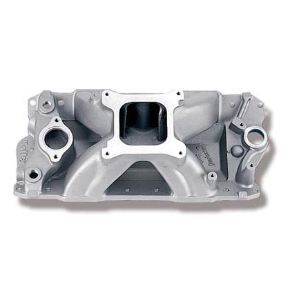 77-79 Omega Base, Brougham, F85 V8 5.0/5.7 Holley Intake Manifold - Strip Dominator, 4500-7600 RPM, 1987-Later w/ Aluminum Head, Street/Strip Use Only